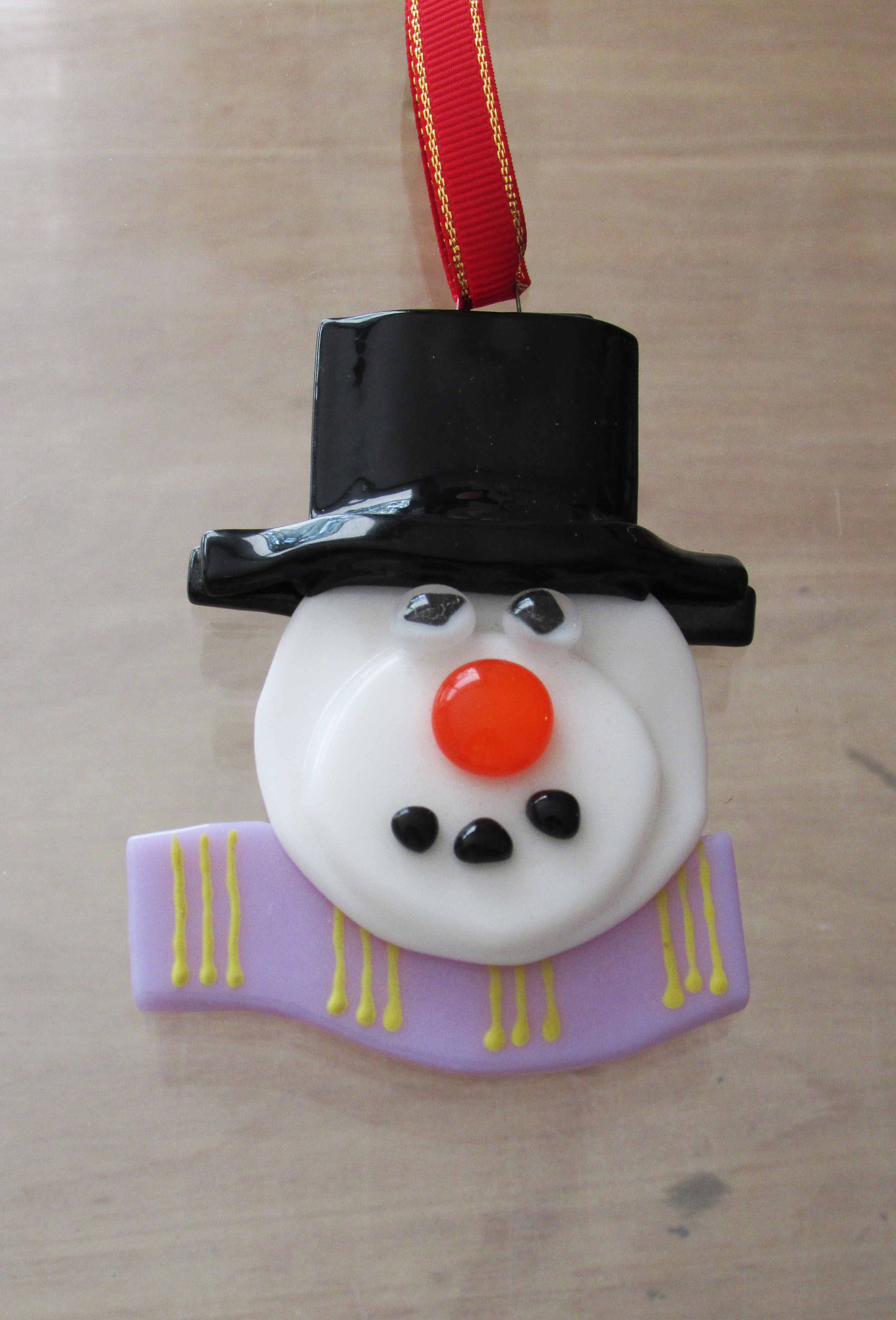 Snowman Head Tree Decoration